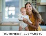 beautiful young brunette woman... | Shutterstock . vector #1797925960