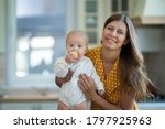 beautiful young brunette woman... | Shutterstock . vector #1797925963