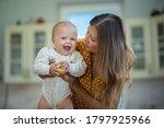 beautiful young brunette woman... | Shutterstock . vector #1797925966