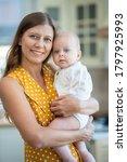 beautiful young brunette woman... | Shutterstock . vector #1797925993