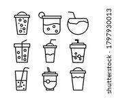 fresh drinks icon or logo... | Shutterstock .eps vector #1797930013