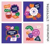 vector set of design elements ... | Shutterstock .eps vector #1797959596