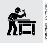 carpenter builder working at... | Shutterstock .eps vector #1797967900
