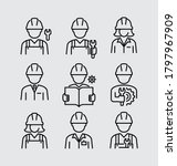construction builder worker... | Shutterstock .eps vector #1797967909