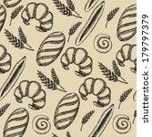 seamless bakery pattern. retro... | Shutterstock .eps vector #179797379