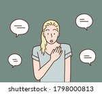 really me  surprised woman... | Shutterstock .eps vector #1798000813
