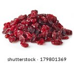 dried cranberries isolated on... | Shutterstock . vector #179801369
