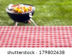empty picnic table background... | Shutterstock . vector #179802638