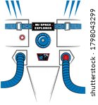 spaceman uniform print for kids ... | Shutterstock .eps vector #1798043299