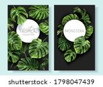 vector tropical frames with... | Shutterstock .eps vector #1798047439