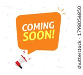 coming soon bubble speech as... | Shutterstock . vector #1798056850