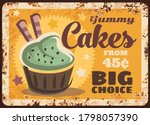 pastry shop cakes rusty metal... | Shutterstock .eps vector #1798057390