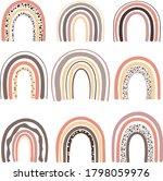 vector rainbow clipart set.... | Shutterstock .eps vector #1798059976