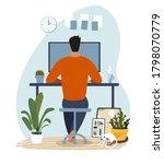 modern concept illustration... | Shutterstock .eps vector #1798070779
