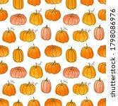 vector background with pumpkins ... | Shutterstock .eps vector #1798086976