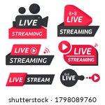 live streaming symbol set... | Shutterstock .eps vector #1798089760