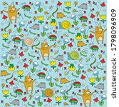 vector forest pattern with... | Shutterstock .eps vector #1798096909