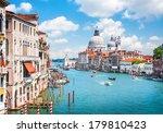 canal grande with basilica di... | Shutterstock . vector #179810423