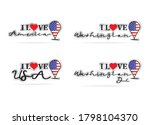I Love Usa Sticker Slogan...