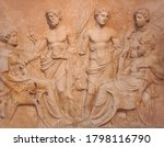 Ancient Bas Relief On Funerary...