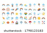 bundle of fifty rainbows and...   Shutterstock .eps vector #1798123183