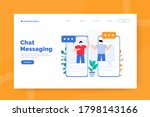 chat messaging landing page...