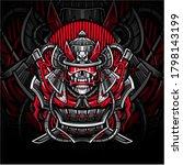 samurai skull esport mascot logo   Shutterstock .eps vector #1798143199