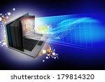 e learning concept. laptop... | Shutterstock . vector #179814320