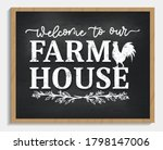 welcome to our farmhouse cozy... | Shutterstock .eps vector #1798147006