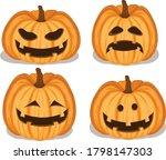 halloween pumkin using vector... | Shutterstock .eps vector #1798147303
