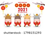 happy chinese new year 2021 ... | Shutterstock .eps vector #1798151293