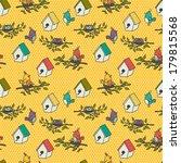 seamless pattern with cartoon... | Shutterstock .eps vector #179815568