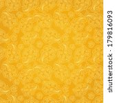seamless pattern with golden... | Shutterstock .eps vector #179816093