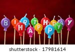 happy birthday candles | Shutterstock . vector #17981614