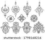 Set Of Indian Yoga Symbols....