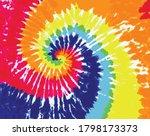 tie dye pattern colorful... | Shutterstock .eps vector #1798173373