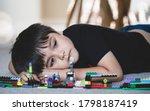 emotional portrait unhappy kid...   Shutterstock . vector #1798187419