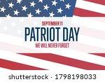 patriot day. september 11.... | Shutterstock .eps vector #1798198033