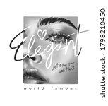 elegant slogan on black and... | Shutterstock .eps vector #1798210450