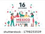 happy mexico independence day... | Shutterstock .eps vector #1798253539