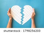 White Puzzle In Heart Shape....