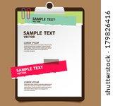 note paper vector illustration   Shutterstock .eps vector #179826416