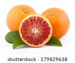 Sicilian Red Oranges Isolated...