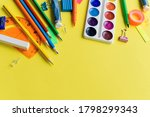 paint  pencils and scissors.... | Shutterstock . vector #1798299343