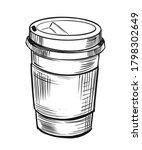 paper cup. tea  coffee. coffee... | Shutterstock .eps vector #1798302649