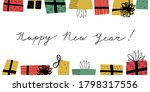 happy new year greeting card... | Shutterstock .eps vector #1798317556