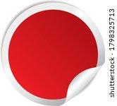 red round folded sticker vector ...   Shutterstock .eps vector #1798325713