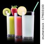 set of tasty summer fruits... | Shutterstock . vector #179833100