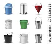 buckets assortment  household... | Shutterstock .eps vector #1798336813