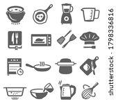 cooking  cookware bold black...   Shutterstock .eps vector #1798336816
